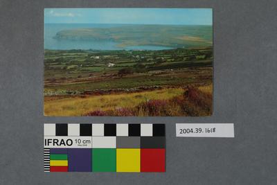 Postcard overlooking a bay