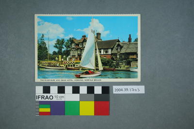 Postcard: The River Bure and Swan Hotel, Horning, Norfolk Broads