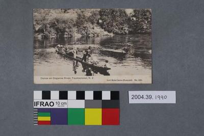 Postcard: Canoe on Ongarne River, Taumarunui, N.Z.