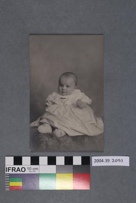 Postcard of a baby in a gown