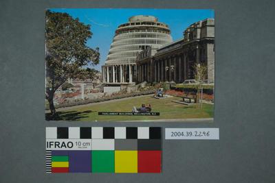 Postcard: Parliament Buildings, Wellington, N.Z.