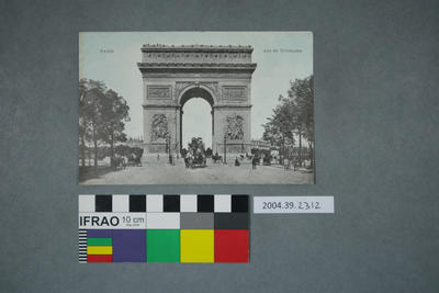 Postcard: Paris, Arc de Triomphe