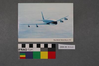 Postcard: The BOAC Rolls-Royce 707