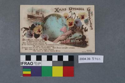 Postcard: Xmas Oversea Greetings; 2004.39.3701