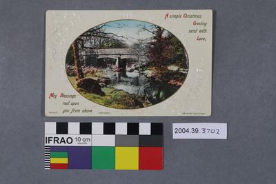 Postcard: Sincere Greetings; 2004.39.3702