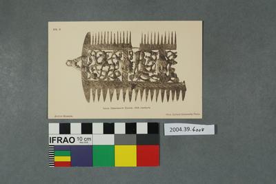 Postcard: Ivory Openwork Comb