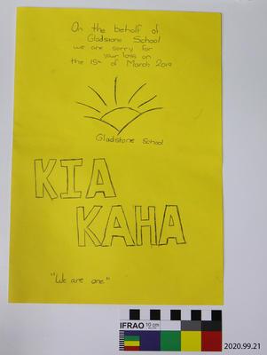 Card: Gladstone School