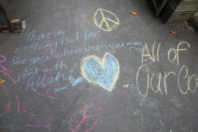 Photograph: Chalk Messages