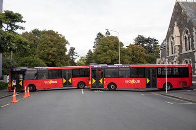 Photograph: Bus Blockade