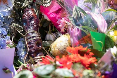 Photograph: Māori Carving Tribute; 19 Mar 2019; 2019.100.379