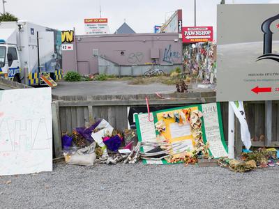Photograph: Linwood Tributes Panorama