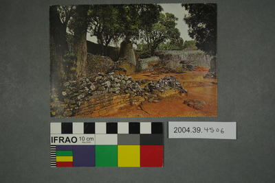 Postcard of ruins