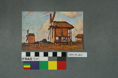Postcard of windmills