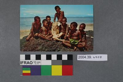 Postcard of children