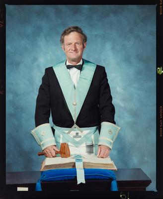Negative: Mr Jones Freemason Portrait