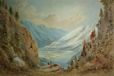 Painting: Near the South branch of the Hurunui River