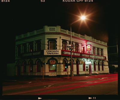 Negative: Crown Tavern At Night; 1993; 2019.10.16943