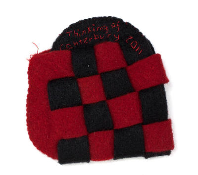 Heart for Christchurch: Black and Red Chessboard