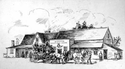 Drawing: Weeden's Half-Way House