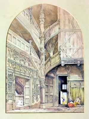 Painting: Ancient Staircase, Normandy