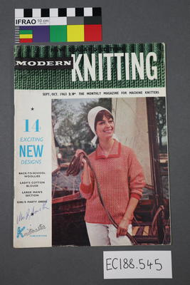 "magazine, knitting pattern:  ""Modern Knitting.  The monthly magazine for machine knitters"", September-October 1963 (NZ edition)"