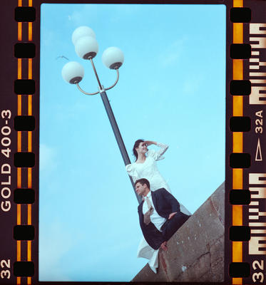 Negative: Unnamed Man And Woman With Streetlight