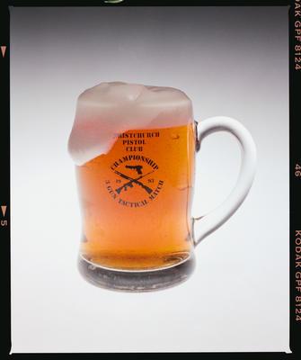 Negative: Beer Mug Christchurch Pistol Club