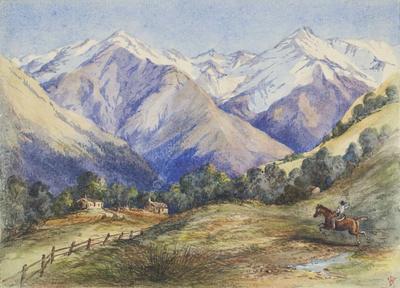 Painting: Castle Hill Station (Enys) Black Range