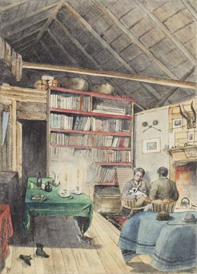 Painting: Interior of Hut