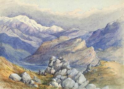 Painting: Puketeraki Range from Castle Hill