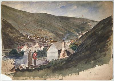 Watercolour Painting: Imperial Troops' quarters at Napier
