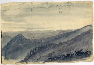 Watercolour Painting: Ruapehu, Tongariro Steaming; 1969.122.10