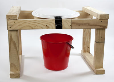 Portable Toilet: Seat, Frame and Bucket