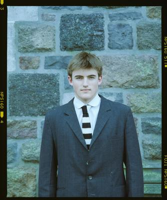 Negative: Unnamed Boy Christ's College Flowers House 1997