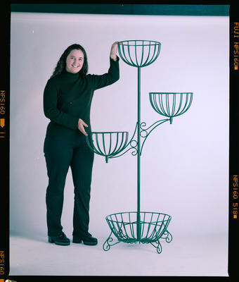 Negative: Just Moss Woman With Plant Stand