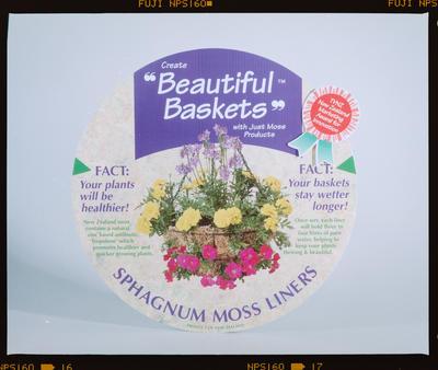 Negative: Just Moss Basket Label