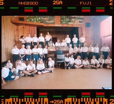 Negative: School Children And Pianist