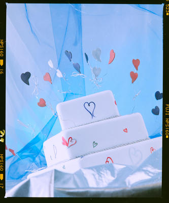 Negative: Cake With Hearts Just Desserts
