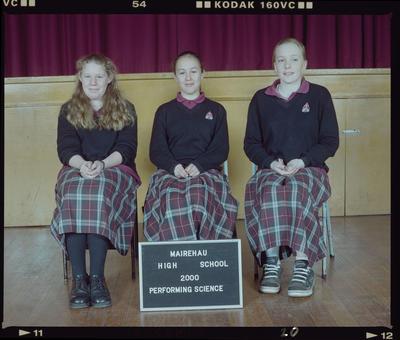Negative: Mairehau High School Performing Science 2000