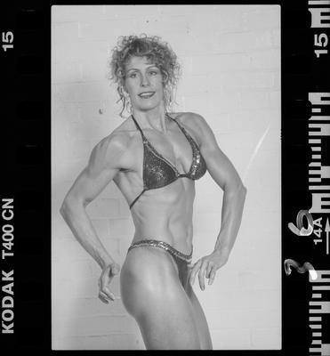 Negative: Corina Bodybuilding Portrait