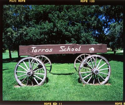 Transparency: Tarras School Wagon Sign