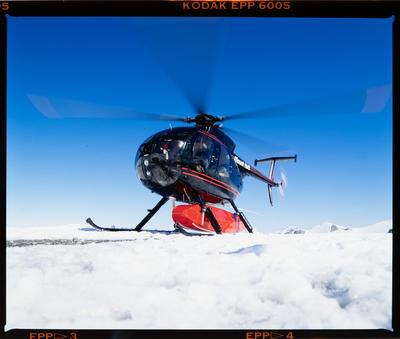 Transparency: Mt Hutt Heliski Helicopter
