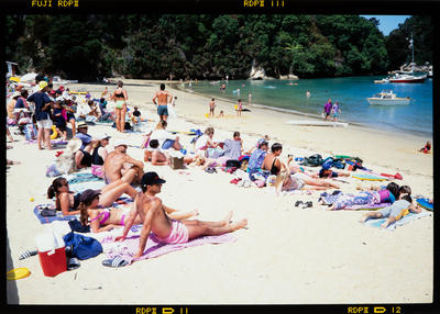 Transparency: People On Kaiteriteri Beach