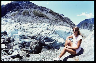 Slide: Woman At Franz Josef Glacier