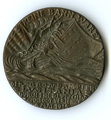 Medal: Lusitania, British Version