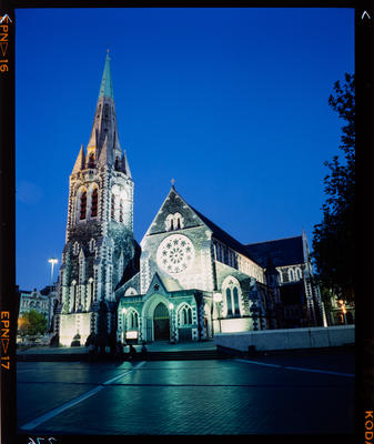 Transparency: ChristChurch Cathedral At Night