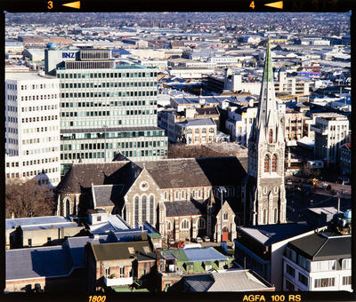 Transparency: Aerial Of ChristChurch Cathedral