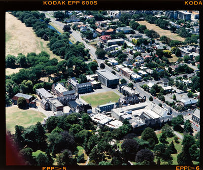 Transparency: Aerial View Christ's College