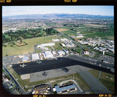 Transparency: Aerial View Christchurch Airport