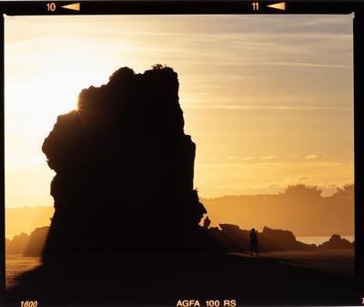 Transparency: Shag Rock At Sunrise